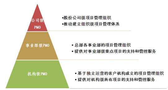 分层次,多级别的项目管理办公室(pmo)成为有效的项目管理组织结构.